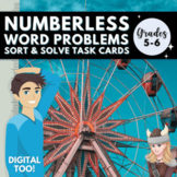 Numberless FRACTION Word Problems Grade 5/6 Distance Learn