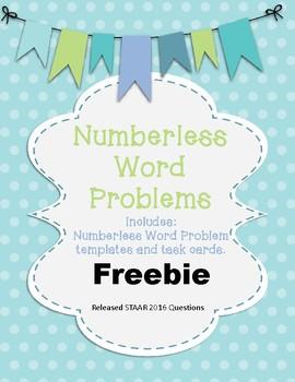 Numberless Word Problem Bundle