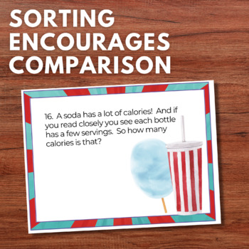 Numberless Word Problems Sort & Solve Grade 3/4 Not Just Test Prep! +-/X