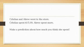 Numberless Word Problems-Decimals