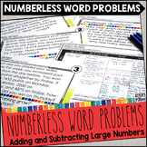 Numberless Word Problems Adding and Subtracting