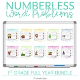 Numberless Word Problems for Addition and Subtraction | First Grade Bundle