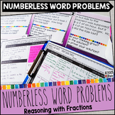 Numberless Word Problems Fractions