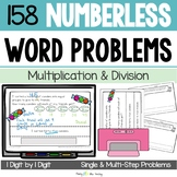 Numberless Word Problems (1-digit multiplication & division) DIGITAL & Printable