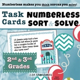 Numberless Word Problems SORT & SOLVE Grade 2.OA.A1 Additi