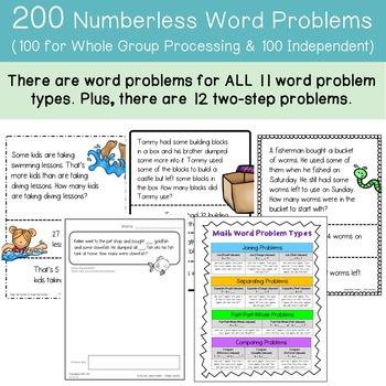 Numberless Word Problems within 100 (DIGITAL & Printable)