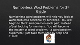 Numberless Word Problems for 3rd Grade