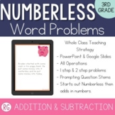 Addition & Subtraction Word Problem Strategy-Solve Numberless Story Problems