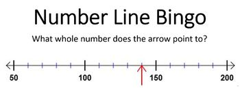 Numberline Bingo using Whole Numbers