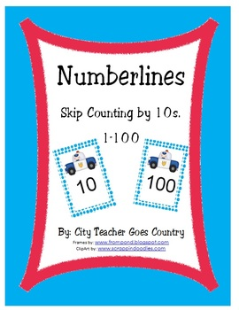 Numberline - Count by 1s, 2s, and 10s (Police and Ambulance Theme)