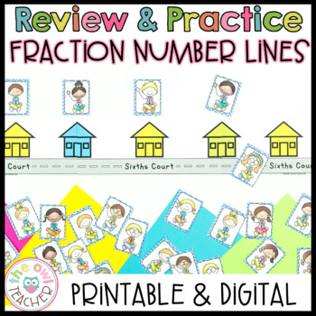 Identifying Fractions on a Number Line Center Activity