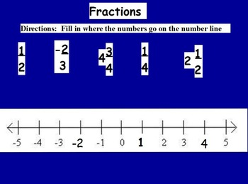 Basic Math Skills - Number line;  Numbers (worksheet included) (ACTIVE BOARD)