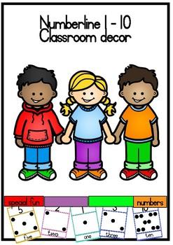 Numberline Printable Classroom resource