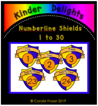 Numberline Shields 1 to 30