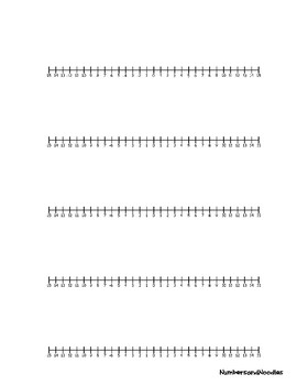 Numberline Templates (1 to 100) (-15 to +15) (1 to 30)
