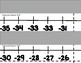 Numberline from -35 to 34 - gray background