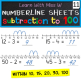Numberline subtraction worksheets