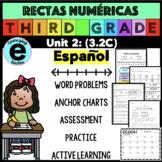 Numberlines in SPANISH, Rectas Numericas, 3.2C