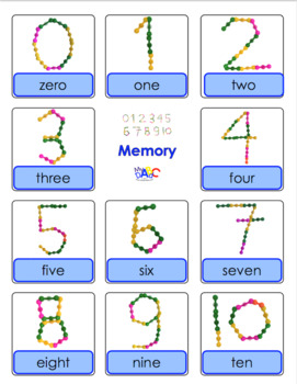 Interstar Numbers 0 to 10 Worksheets and Memory Games in English and French