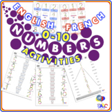 Numbers 0-10 ACTIVITY Worksheets | English and French for Kids