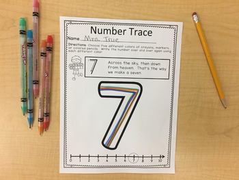 Numbers 0-10 Activity Pages Set 1