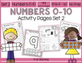 Numbers 0-10 Activity Pages Set 2