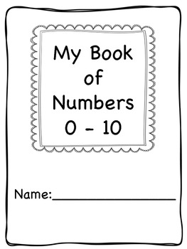 Numbers 0-10 Activity Pages or Book