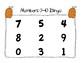 Numbers 0-10 Bingo