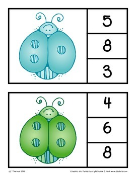 Numbers 0-10 Clip Cards