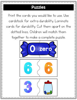 Numbers 0-10 Clip Cards & Puzzles