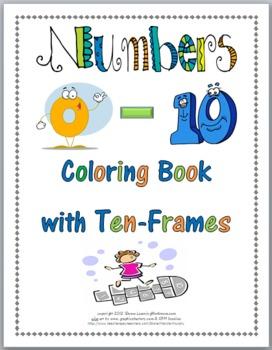 Ten Frames Numbers Coloring Book