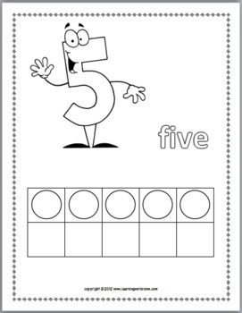 Ten Frame Numbers Coloring Book