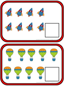 Numbers 0-10 Counting Game Math Station for Pre-K and Kindergarten (K.CC.4)
