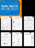 Numbers 0-10 Counting Worksheets