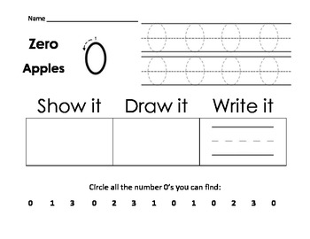 Numbers 0-10 Focus Worksheets, CRA supported, CCSS Aligned