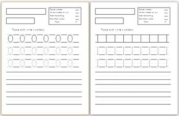 Numbers 0-10 Handwriting Worksheets (3 different versions)