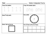 Numbers 0-10 Independent Practice Handout