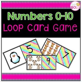 Numbers 0-10 Loop Card Game