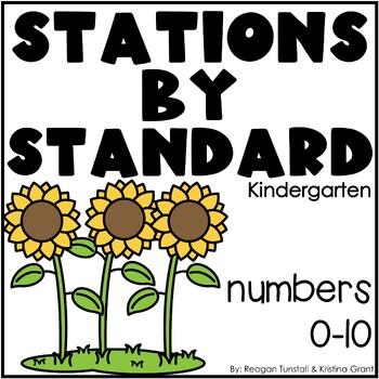 Numbers 0-10 Math Stations Kindergarten