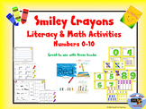Numbers 0-10 Math and Literacy Crayon Unit