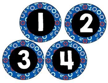Numbers 0-10 Nautical Theme