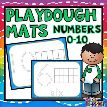 Numbers 0-10 Playdough Mats