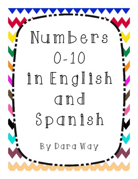 Numbers 0-10 Posters in English and Spanish