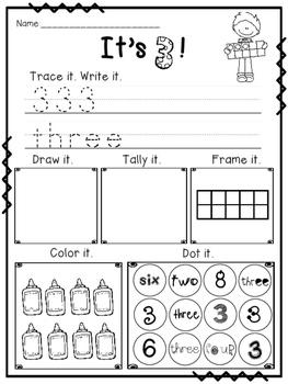 Numbers 0-10 Printables and Games- Freebie!