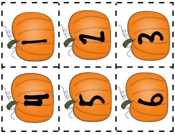 Numbers 0-10: Pumpkin Patch Math Match Up