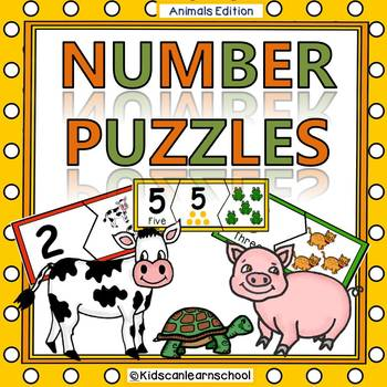 Number Puzzles 0-10 - Animals Edition