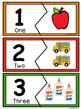 Number Puzzles 0-10 -Back to School Edition