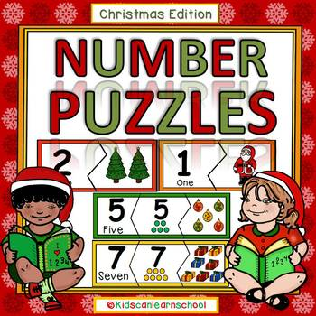 Number Puzzles  0-10 - Christmas Edition