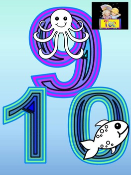 Ocean Theme - Numbers 0-10 - Sea - Fish Theme