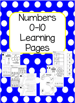 Numbers 0-10 Student Worksheets B/W